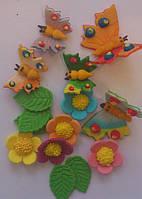 """Набор """"Бабочки ,цветочки""""(код 01039)"""