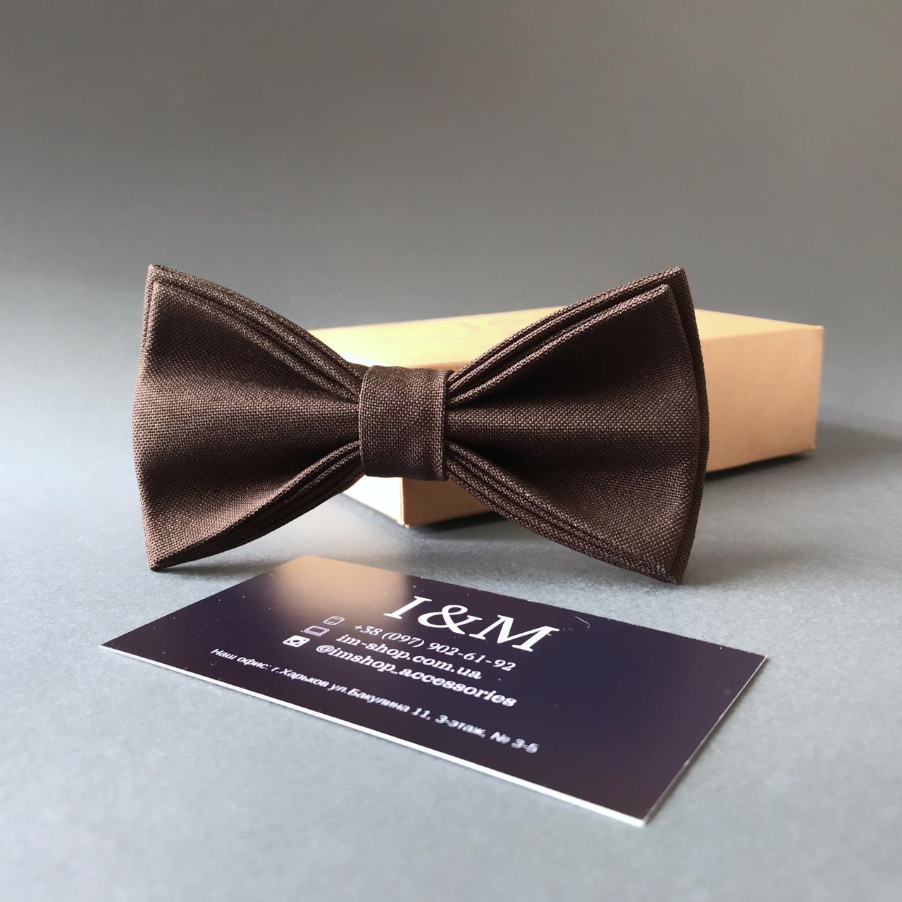 Галстук-бабочка I&M Craft классический коричневый (010328)