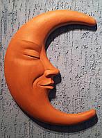Настенный декор Полумесяц, терракота, Италия