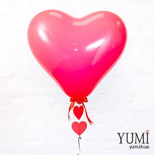 Воздушный шар с гелием в форме сердца с гирляндой, фото 2
