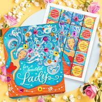 Шоколадный набор Lady оригинальный подарок девушке на 8 марта