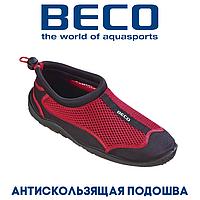 Аквашузы, коралки, обувь для дайвинга, серфинга и плавания BECO 90661 50, красный/черный