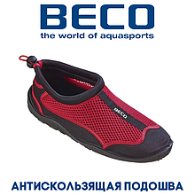 Аквашузы, коралки, взуття для дайвінгу, серфінгу і плавання BECO 90661 50, червоний/чорний