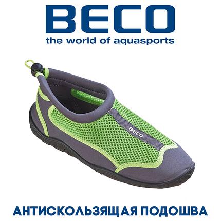 Аквашузы, обувь для серфинга и плавания BECO 90661 118 серо/зеленый, фото 2