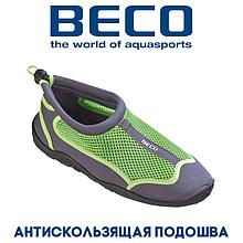 Аквашузы, коралки, взуття для дайвінгу, серфінгу і плавання BECO 90661 118, сіро/зелений