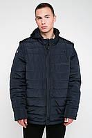 Чоловіча демісезонна куртка-трансформер синій 3025
