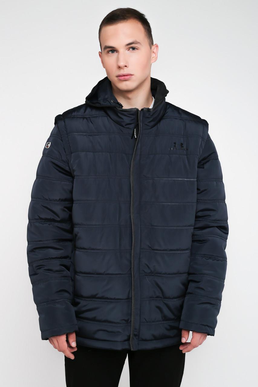Мужская демисезонная куртка-трансформер синий 3025, фото 1
