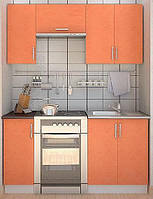 Недорогие кухни - фасад оранж