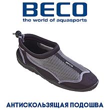 Аквашузы, коралки, взуття для дайвінгу, серфінгу і плавання BECO 90661 110, срібно/чорний