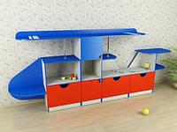 Стенка для игрушек Вертолет