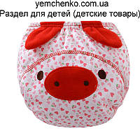 ТРЕНИРОВОЧНЫЕ ТРУСИКИ. Свинка с ушками L (размер 100 - 14-16 кг)