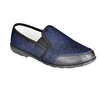Туфли домашние мужские джинс строчно-литьевого метода крепления на подошве с ПВХ
