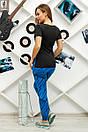 Футболка спортивна жіноча №43 кубик синій, фото 2