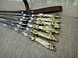 """Шампура ручной работы """"Успешная охота"""" в кожаном колчане, 6шт, фото 4"""