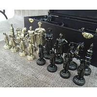 """Авторские шахматы """"Запорожская Сечь"""". Подарочные шахматы ручной работы с фигурами из бронзы"""