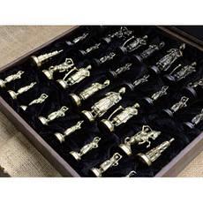"""Шахматы """"Запорожская Сечь"""". Подарочные шахматы с фигурами из бронзы - солидный подарок мужчине, фото 3"""