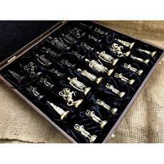 """Шахматы """"Запорожская Сечь"""". Подарочные шахматы с фигурами из бронзы - солидный подарок мужчине, фото 2"""