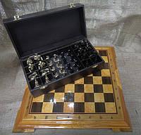"""Эксклюзивные шахматы ручной работы """"Запорожская Сечь"""". Набор шахмат (доска из дерева, фигурки бронзовые)"""
