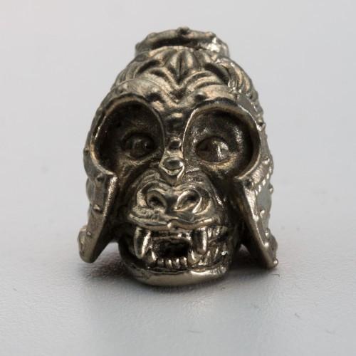 Бусина на темляк Обезьяна (бронза, черненая бронза, мельхиор)