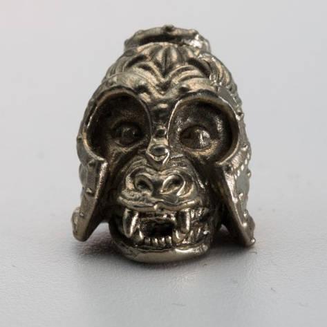Бусина на темляк Обезьяна (бронза, черненая бронза, мельхиор), фото 2