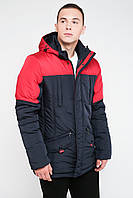 Зимова чоловіча куртка на синтепоні з накладними кишенями 3026, фото 1