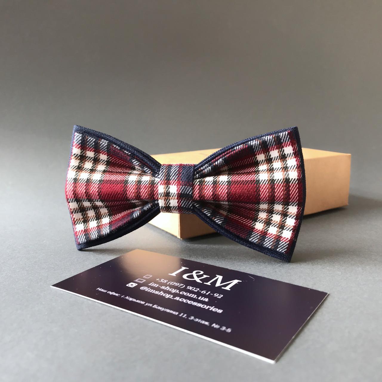 Краватка-метелик I&M Craft в клітку (00027)