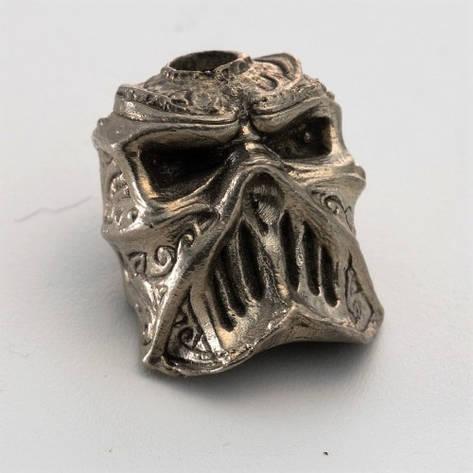 Бусина на темляк Череп № 2 (бронза, черненая бронза, мельхиор), фото 2