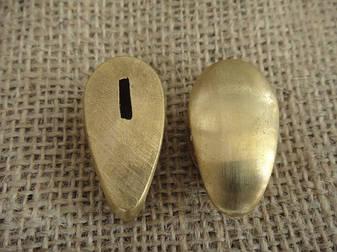 Бронзовый/мельхиоровый комплект для ножа № 16, фото 2