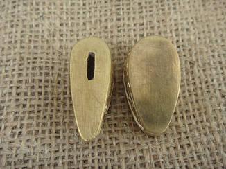 Бронзовый/мельхиоровый комплект для ножа № 2, фото 2