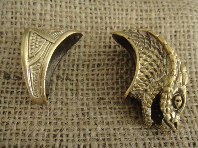 Бронзовый/мельхиоровый комплект для ножа № 23 Змея