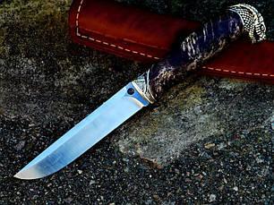 Бронзовый/мельхиоровый комплект для ножа № 23 Змея, фото 3