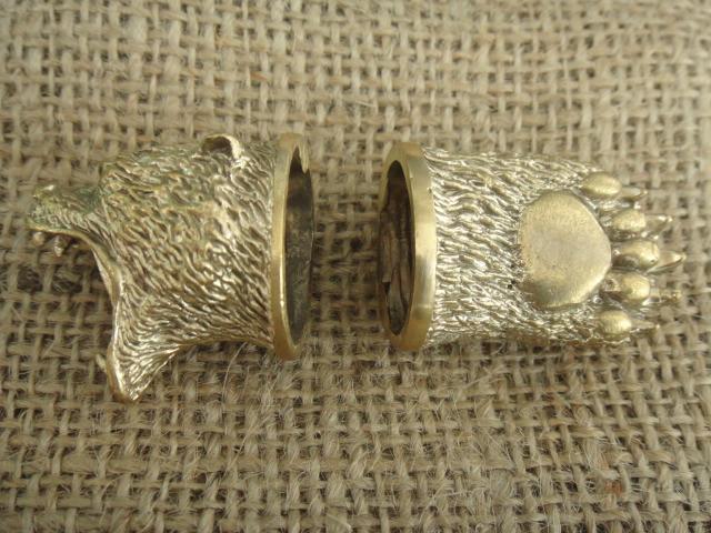 Бронзовый/мельхиоровый комплект для ножа № 26 Гризли