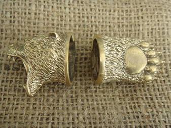 Бронзовый/мельхиоровый комплект для ножа № 26 Гризли, фото 2