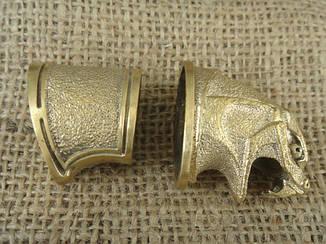 Бронзовый/мельхиоровый комплект для ножа № 28 Змей, фото 2