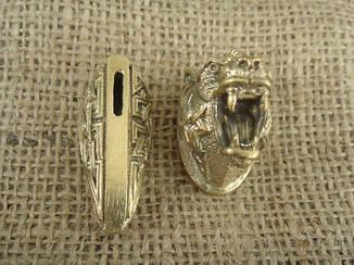 Бронзовый/мельхиоровый комплект для ножа № 29, фото 2