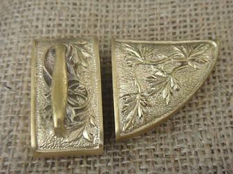 Бронзовый/мельхиоровый комплект для ножен № 33, фото 2