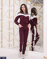 Женский спортивный костюм со вставками, фото 1