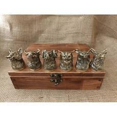 Беспроигрышный подарок мужчине - набор охотничьих чарок в кейсе из бука, 6шт., фото 3