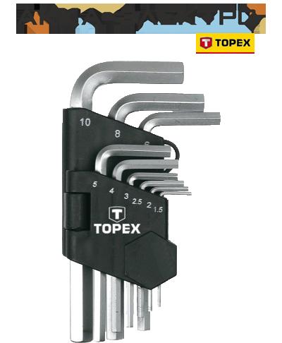 Набір ключів Topex 35D955 1.5-10мм, 9шт.