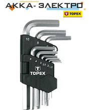 Набор ключей Topex 35D955 1.5-10мм, 9шт.