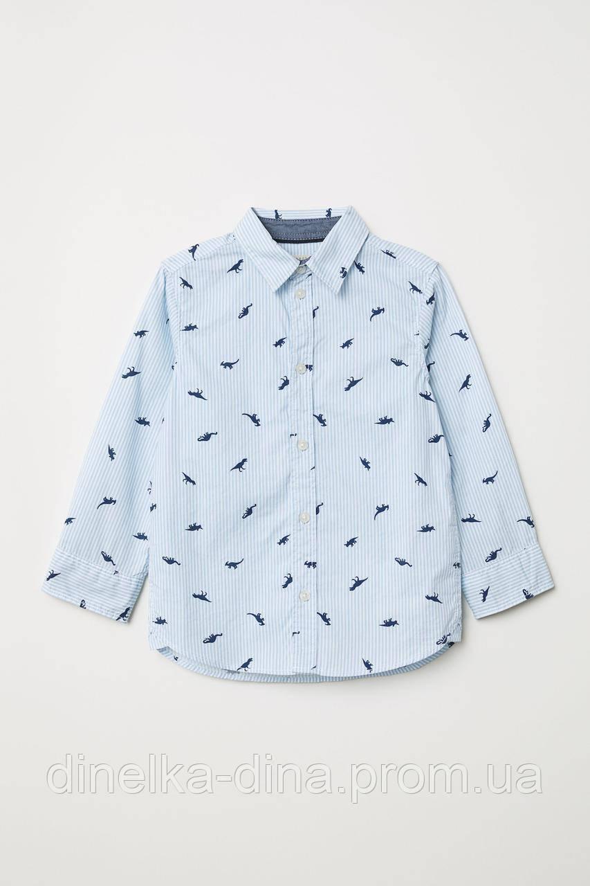 Котоновая рубашка на мальчика 1, 5-2, 2-3, 3-4 года от H&M