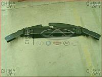 Накладка передней панели, верхняя, пластик, панель замка капота, Geely EC7[1.8], 1068001696, Aftermarket