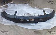 Бампер передний, верхняя часть, пластик, черный, не крашеный, Geely LC Cross [GX2], 1018015839, Original parts