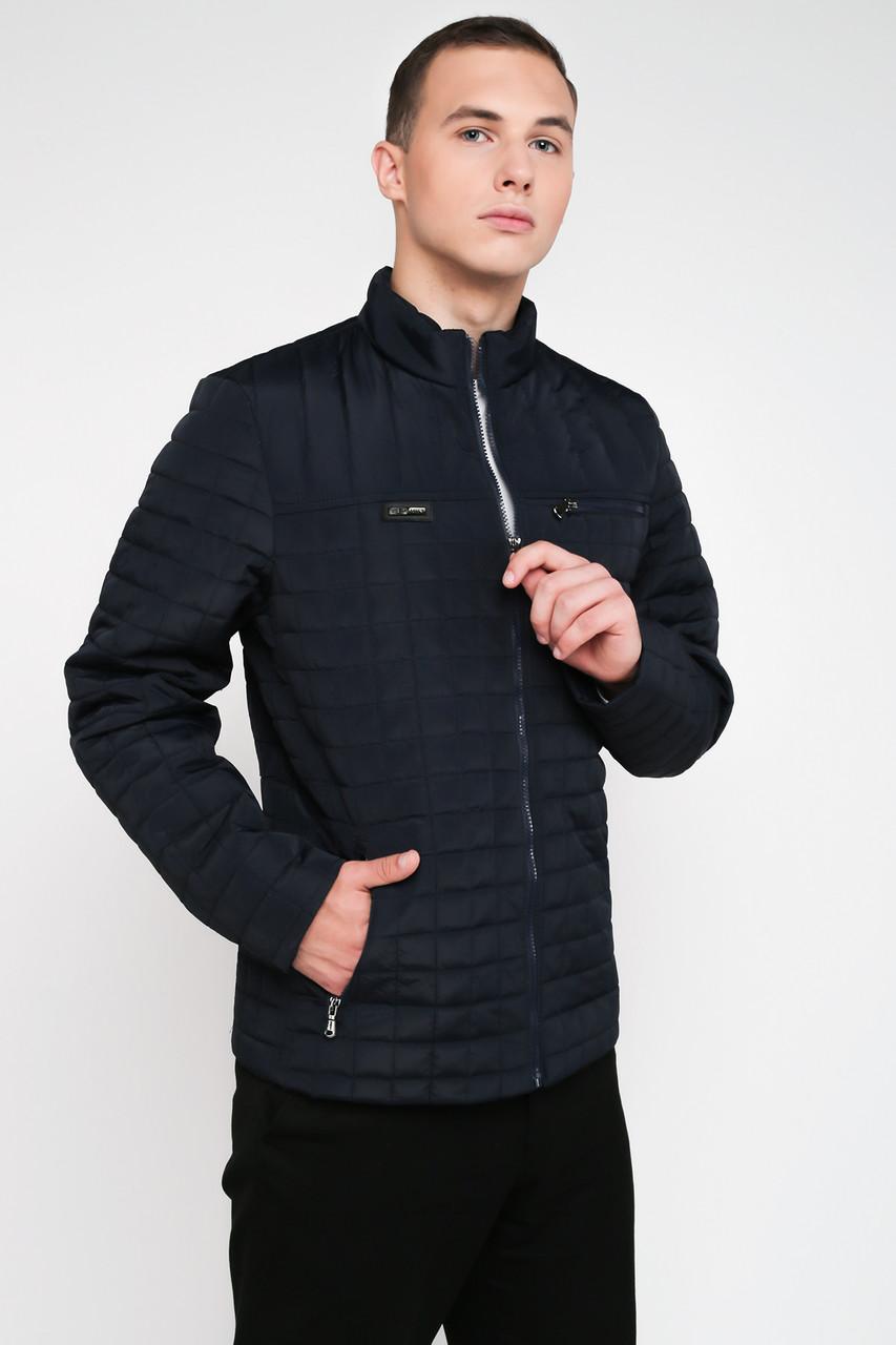 Стеганная мужская демисезонная куртка синий 3027, фото 1