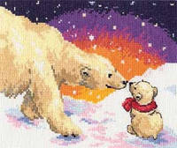 Набор для вышивки крестом Алиса 0-26 Белые медведи
