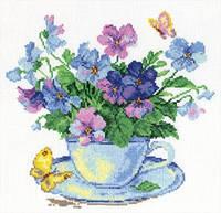 Набор для вышивки крестом Алиса 2-01 Утренние цветы