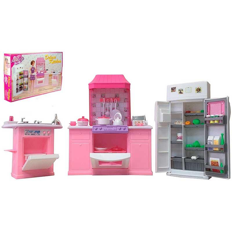 "Набор мебели ""Gloria"" кухня, холодильник, плита"