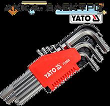 Набор шестигранных ключей Yato 9 предметов 1.5-10 мм (YT-0500) КОРОТКИЙ