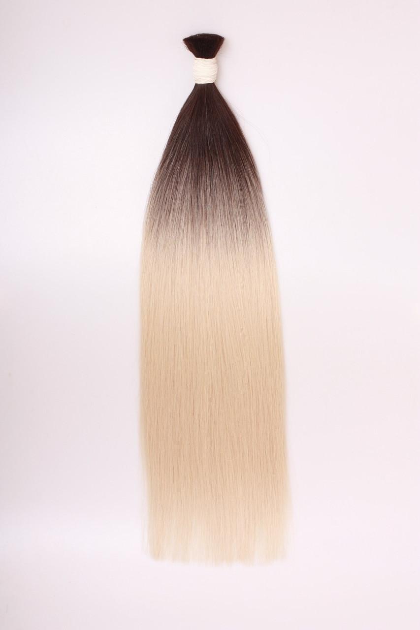 Славянские волосы в срезе 80 см. Цвет #Омбре