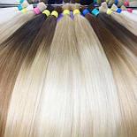Славянские волосы в срезе 80 см. Цвет #Омбре, фото 2